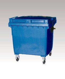 Blue waste container
