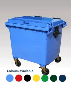 Waste container with a selection of available colours