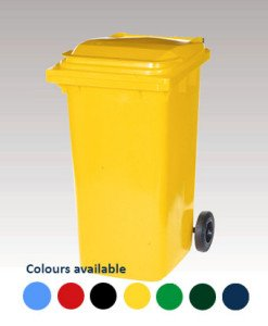 Bin with a selection of available colours
