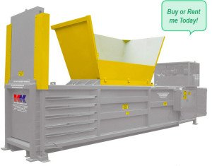 This semi automatic horizontal baler crushes anything that is offered to the wide loading hopper. Bale weight: 650kg. For cardboard, plastic, foam, barrels and more.